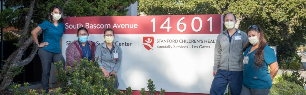 The Care Team outside Stanford Children's Pilonidal Clinic in Los Gatos, CA